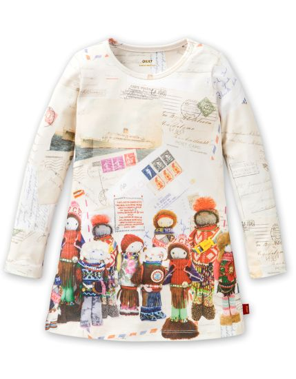 For some baby girl relative-> Taske Dress Doll Print
