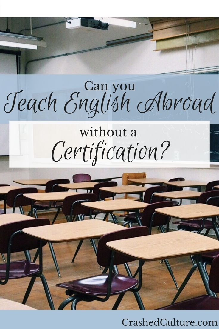 Can You Teach English Abroad Without Certification