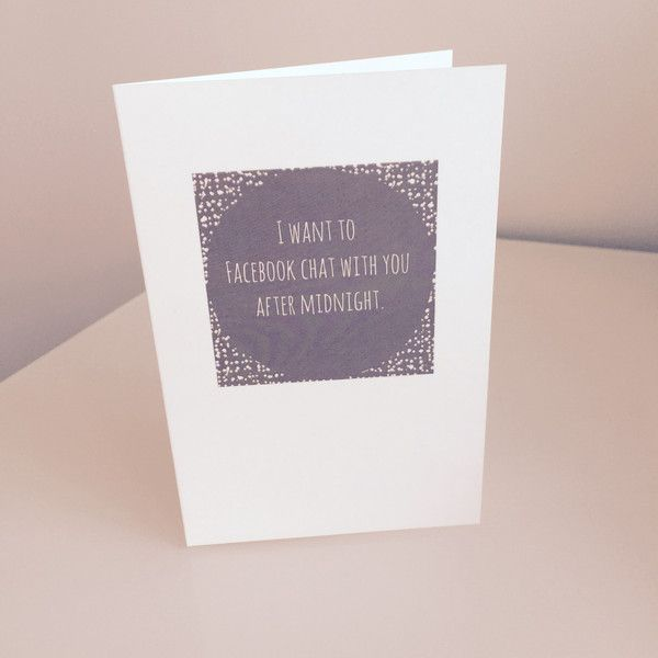 Love Cards - I want to Facebook chat with you