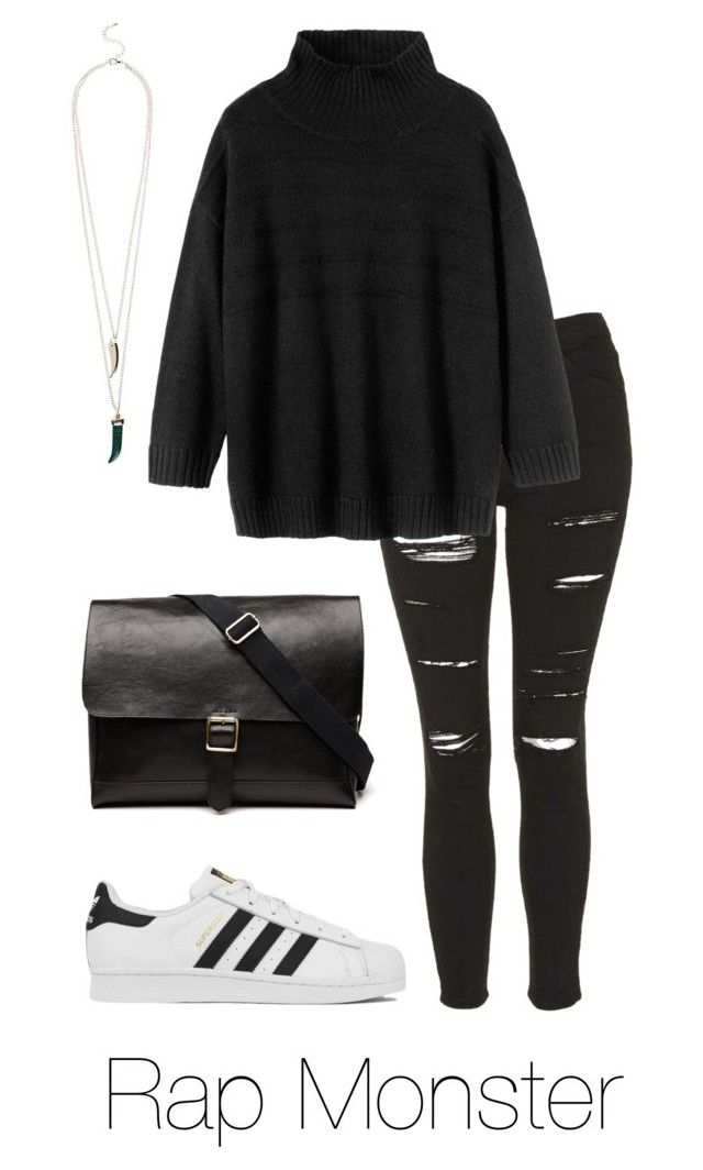 """Rap Monster w/ Adidas"" by btsoutfits ❤ liked on Polyvore featuring Topshop, Toast, adidas and Witchery"