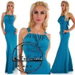 Rochie eleganta lunga Ravishing albastru petrol