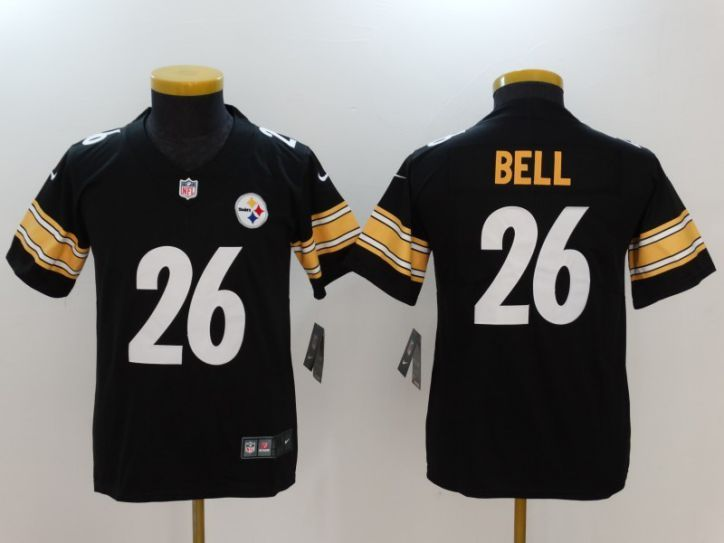 Youth Pittsburgh Steelers 26 Bell Black Nike Vapor Untouchable Limited NFL  Jersey 12c744bcc