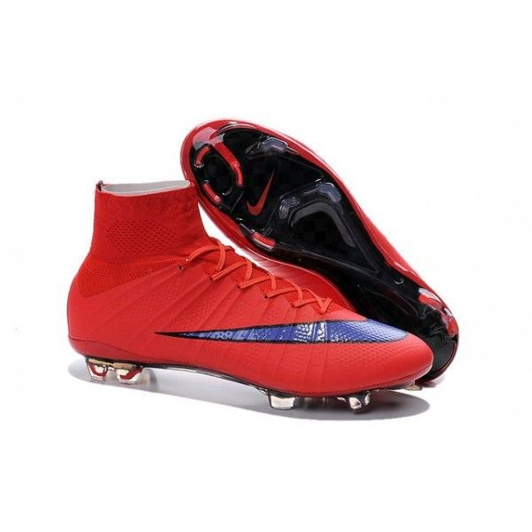 Nike Men\u0027s Mercurial Superfly FG Soccer Cleats - Bright Crimson Persian  Violet Black