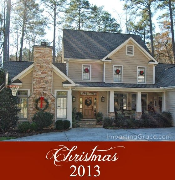 Lots of beautiful traditional Christmas decor! Christmas Open House at ImpartingGrace.com