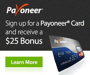recieve, send and withdraw online payments with Payoneer Master card.