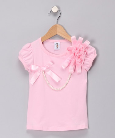 Take a look at this Light Pink Pearl Tee - Toddler & Girls by 2 Crystal Chicks: Girls' Apparel on #zulily today!