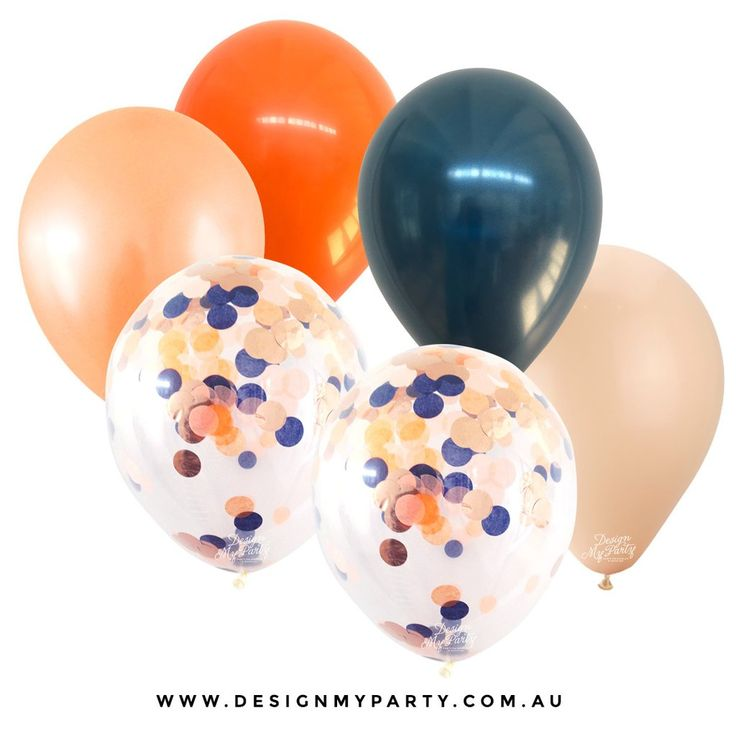 Sunset 2.0 Glam Mix with 2 Confetti Balloons (12 Pack)