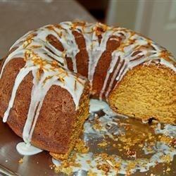 A light-tasting, fine-textured cake with an orange glaze.