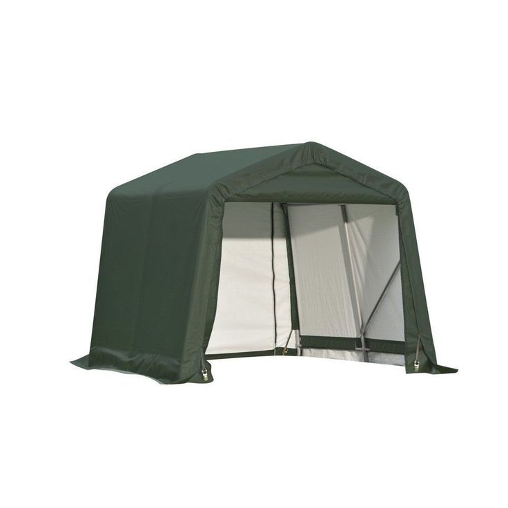 Shelterlogic Outdoor Garage Automotive/ Boat Green 8 x 16 x 8-foot Storage Shed (Shelterlogic Storage Green Shed 8'W x 16'L x 8'H) (Canvas) #71824