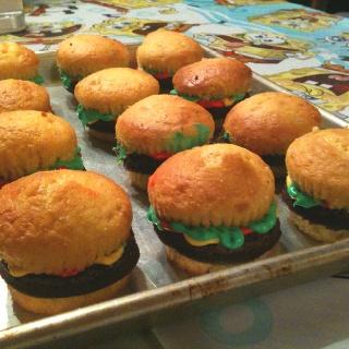 Crabby patties cupcakes :)