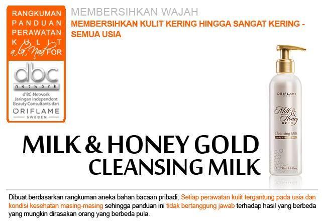 Milk & Honey Gold Cleansing Milk |  #pembersih #wajah #kulit #kering #sangatkering #semuausia #tipsdBCN #Oriflame