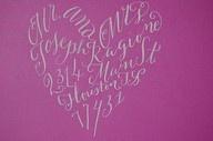 Written in the shape of a heart