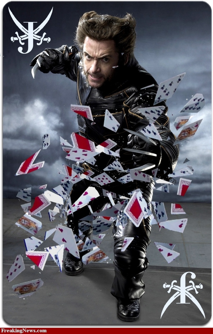 Jack of Blades - Hugh Jackman takes cutting the deck literally.: Oracle, Decks Liter