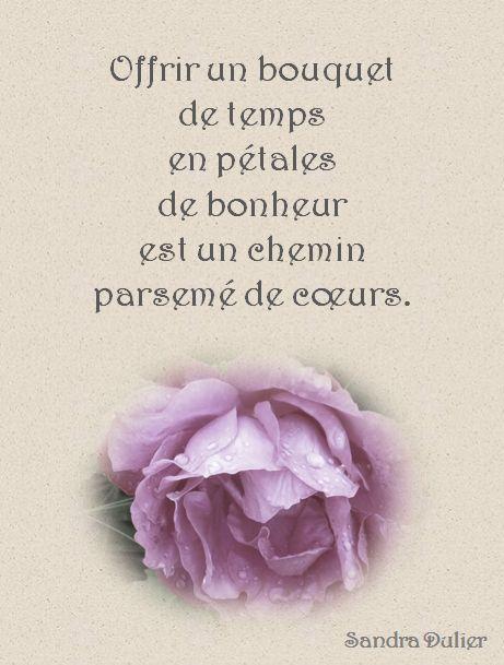 Carte virtuelle - Rose - Citation - Temps - Amour - Printemps - Poésie