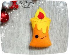 Adornos de Navidad vela sentían ornamento para por MyMagicFelt
