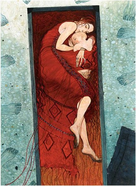 Greek Mythology by Svetlin Vassilev (I think this is Danae after she gives birth to Zeus's baby? Not sure.):