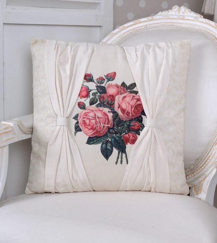 Декоративные подушки Сад роз подушка потертый шик декоративная подушка белый | eBay
