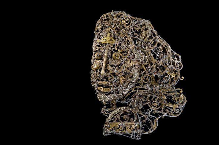 #Woman in the #wind - (2007) 66x50 - made with #copper #brass #bronze #tin #sculpture #metal #metalart #metalsculptures #art #artist #hair