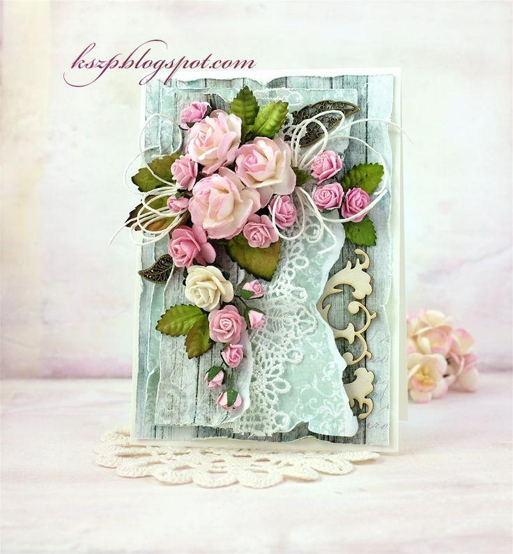 Lubicie połączenie mięty z kolorem różowym? Ja bardzo. I taka jest kartka, którą chcę Wam dziś pokazać.   Hello everyone :)  Do you like the...