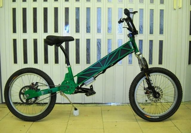 Size 7 eBmx - handmade steel frame by GraziantonioOriolo - 1kw dc motor- 72v 10ah 15c lipo by maxamps