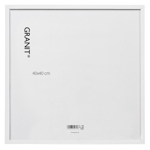 Bilderrahmen 40x40 cm Weiß