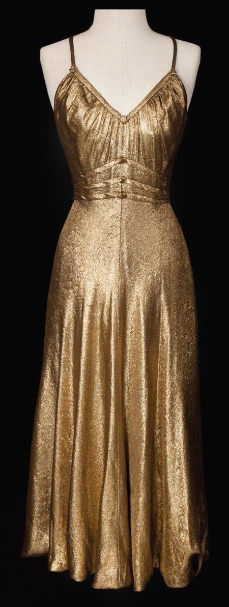 """The Barclays of Broadway"", 1939. Gown worn by Ginger Rogers. Designed by Irene."