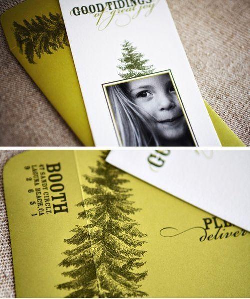 Holiday Card Fold Over Envelope Design