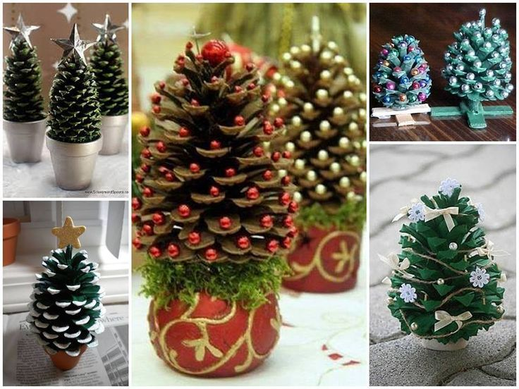 My bestie gave me some LARGE cones perfect for this :) pinecone christmas trees