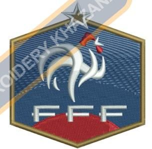 France National Football Team Logo Embroidery Design