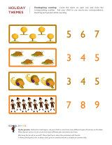 Thanksgiving counting activity for young kids.