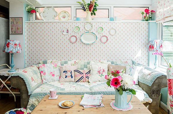 colourful vintage conservatory decor A Cottage Chic Cath Kidston Home