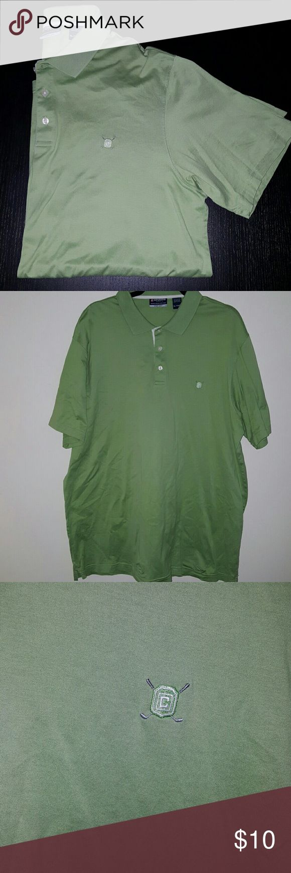 """Chaps Golf Stay Dry Mint Green Short Sleeve Good Condition   Size XL  Armpit to Armpit 25""""  Front top to bottom 28.5""""  Back top to bottom 33""""  Shoulder to end 10""""  Neck 9.5"""" across   Did I forget something? ASK QUESTIONS! Chaps Shirts Polos"""