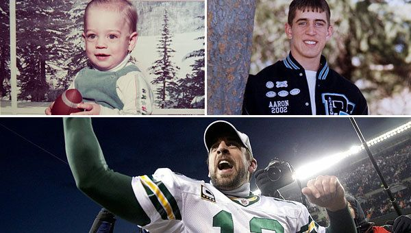 Growing up in Chico, Calif., Packers quarterback Aaron Rodgers showed his football intelligence and skill at an early age.