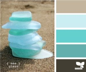 The light blue/green color for the walls... sea glass These are similar to the colors I would like my home to be