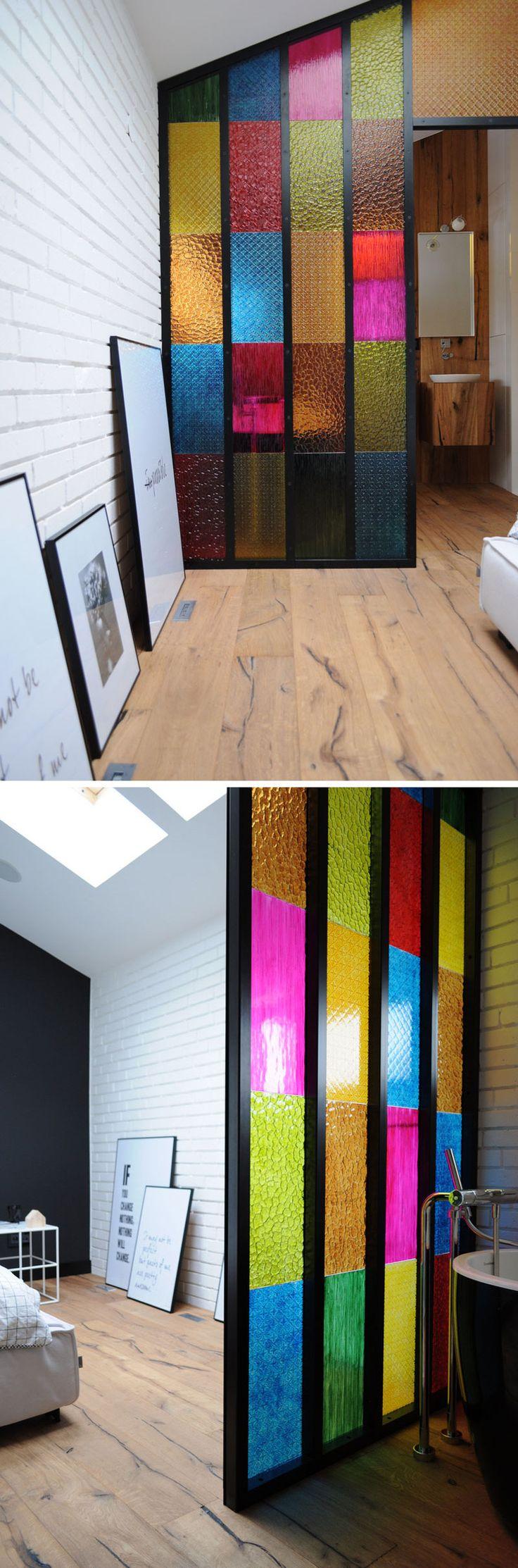 Textura em vidro colorido