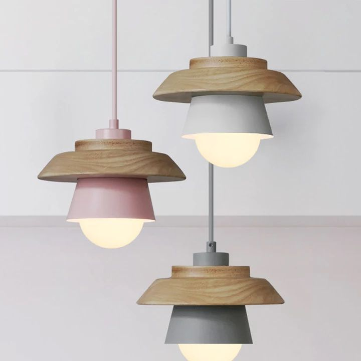C 38 93 40 Off Colorful Pendant Lights Macaron Nordic Wood