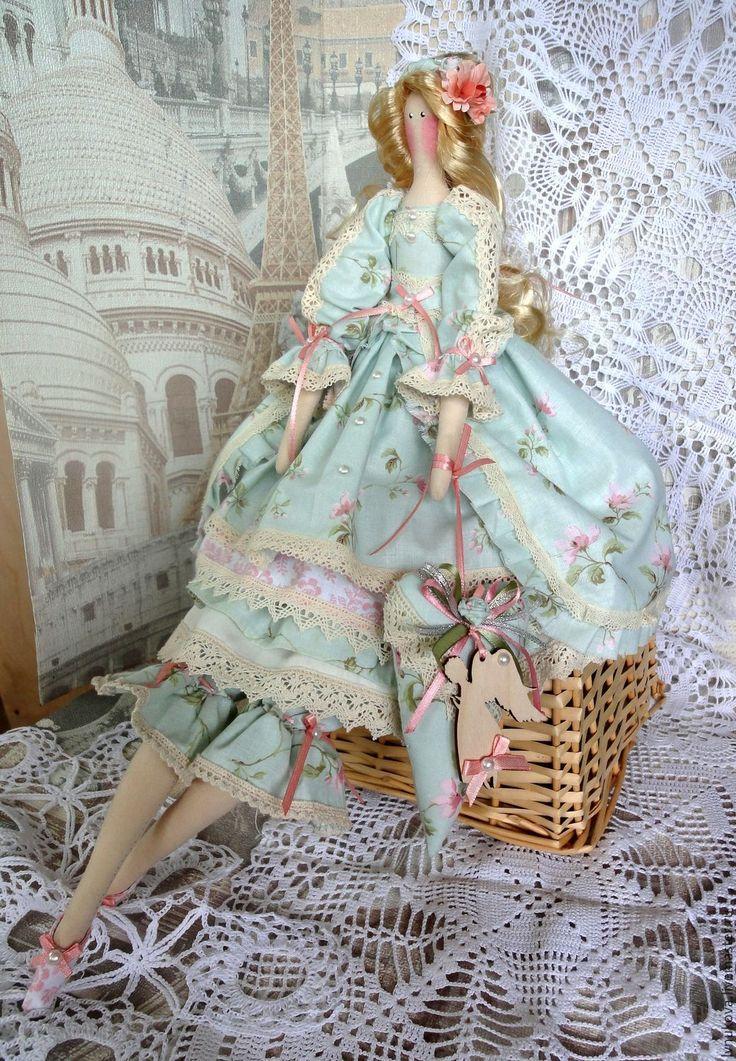 Купить Интерьерная кукла Тильда Ангел в Сердце - комбинированный, кукла ручной работы, кукла Тильда