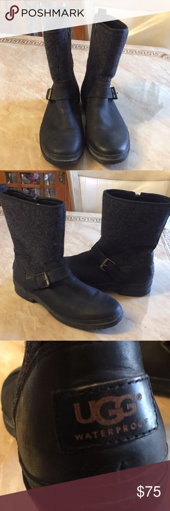 UGG Waterproof pre loved gently used practically new used only 4 times no box some very light spots not very visible were purchased at NORDSTROM Reasonable offers Welcome UGG Shoes Winter & Rain Boots
