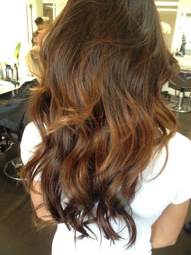 balayage brunette highlights 2013
