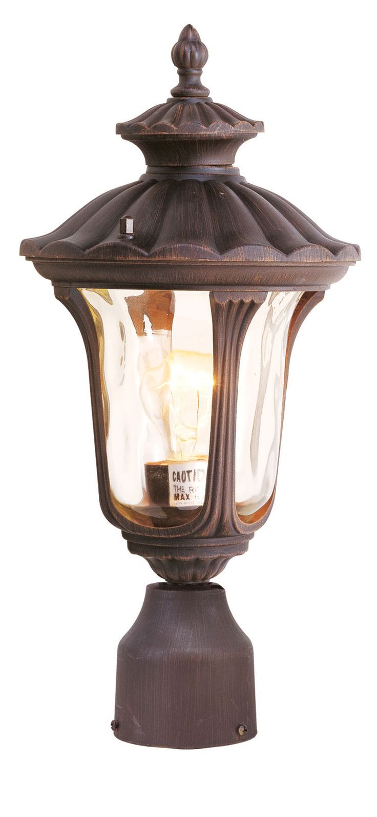 livex lighting oxford imperial bronze outdoor post lantern
