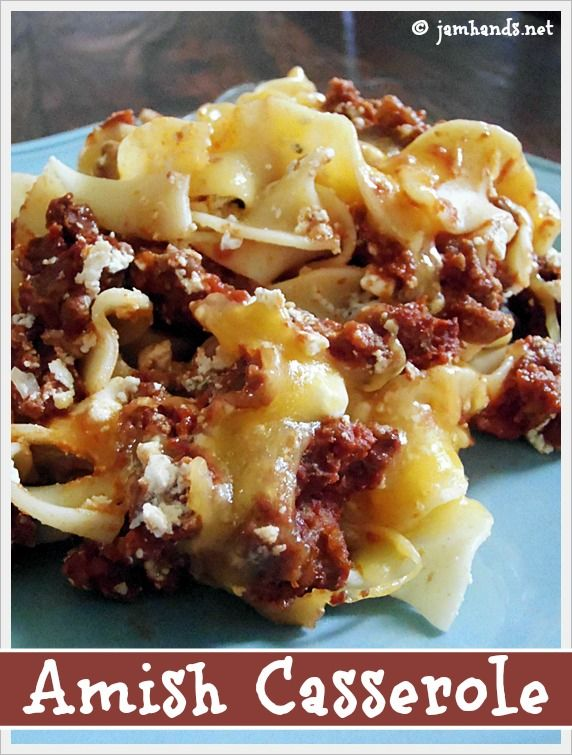 Amish Ground Beef and Noodle Casserole at Jam Hands