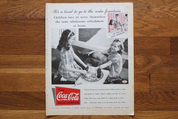 Vintage July 1935 Coca Cola Ad / Lux Soap Ad by SquattingGypsy, $5.00
