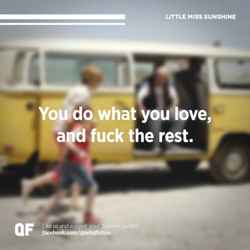 The LITTLE MISS SUNSHINE guide to life...