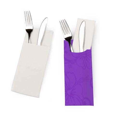 Bestekzakjes - Bedrukte bestekzakjes levert niet alleen tijdwinst voor het bedienend personeel op, maar ze dragen ook bij aan een verzorgde professionele uitstraling van je restaurant, eetcafé of lunchzaak.