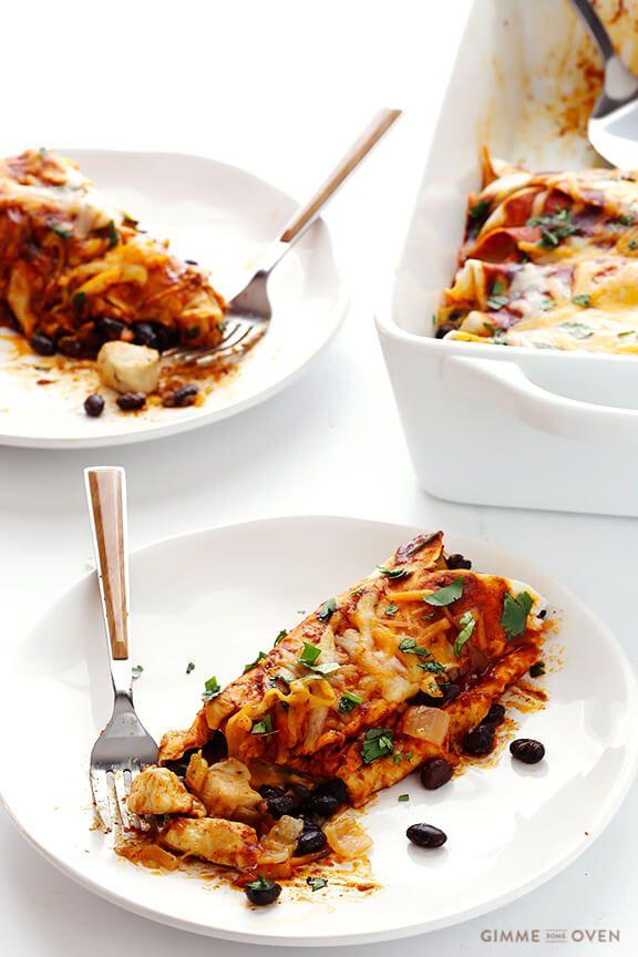 Seriously The BEST Chicken Enchiladas Ever! | gimmesomeoven.com
