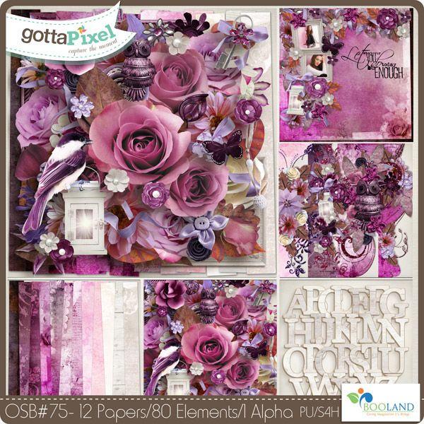 OSB 75 :: Gotta Pixel Digital Scrapbook Store by Booland Designs $4.50