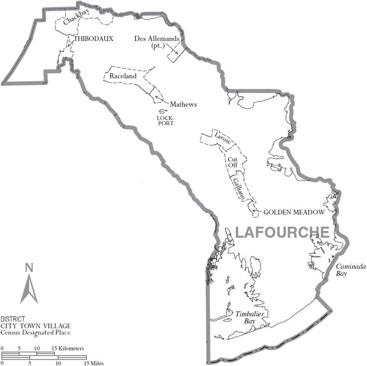 Map of Lafourche Parish Louisiana Home Sweet Home!