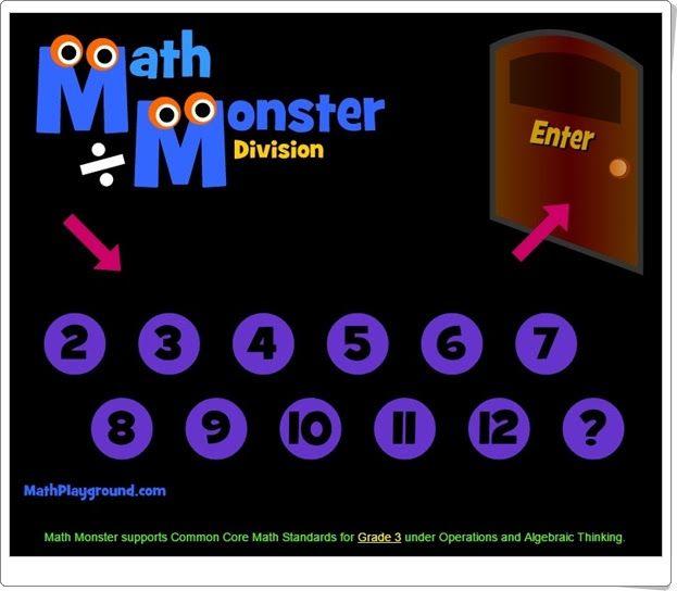 """Math Monster Division"" (Mathplayground.com)"