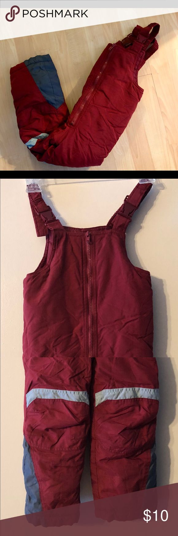 Kids Snow bibs Kids snow bibs size 4. Bibs have adjustable straps and are in good condition. Jackets & Coats