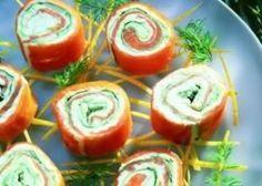 Lekker feestmenu met o.a. gevuld kalfsgebraad - Aperitiefhapjes: Creatief met aperitief: Zalige zalmrolletjes